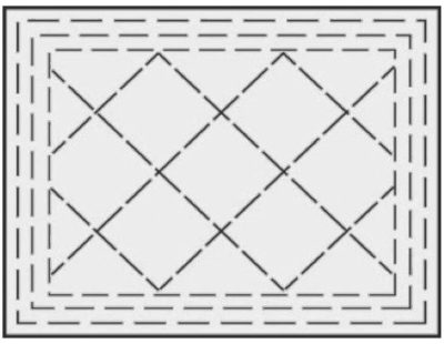 Border with Straight Diamond