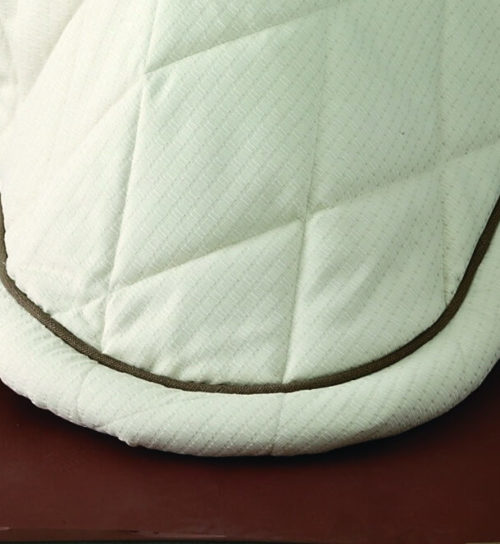 Padded roll with piping above